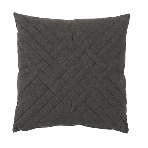 Lacefield Designs - Veranda Ash Grey Quilt Interlaced Outdoor Pillow - OUT41