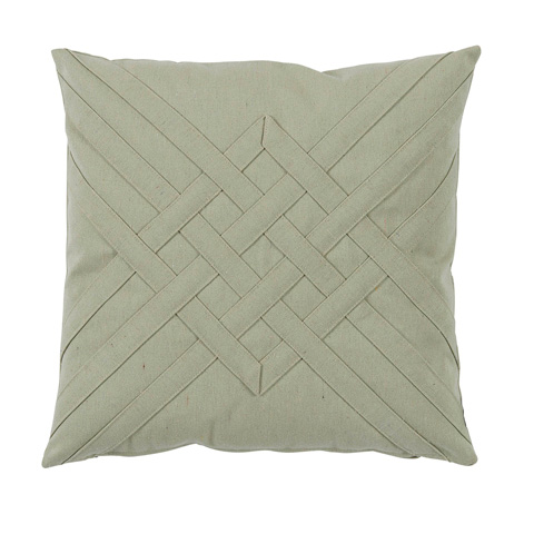 Lacefield Designs - Veranda Celadon Green Quilt Interlaced Pillow - OUT42
