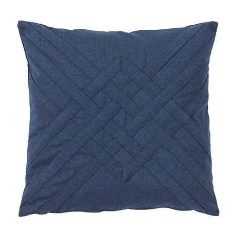 Lacefield Designs - Veranda Cadet Blue Quilt Interlaced Outdoor Pillow - OUT43