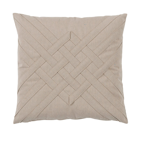 Lacefield Designs - Veranda Bone Quilt Interlaced Outdoor Pillow - OUT44