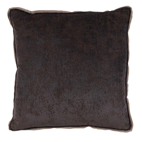 Image of Medici Flint Grey Antiqued Chenille Throw Pillow