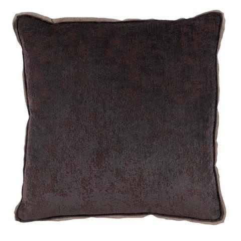 Image of Medici Flint GreyAntiqued Chenille Throw Pillow