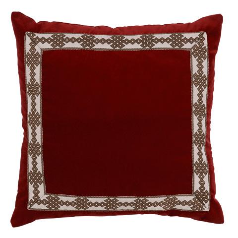 Image of Garnet VelvetThrow Pillow