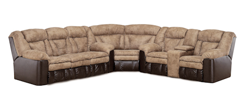 Lane Home Furnishings - Talon Faux Leather and Fabric Reclining Sectional - 249 GROUP