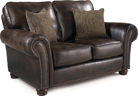 Lane Home Furnishings - Benson Faux Leather Stationary Loveseat - 630-20