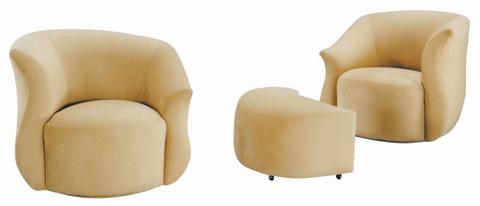 Lazar - Viva Club Chair with Memory Swivel - 1070L