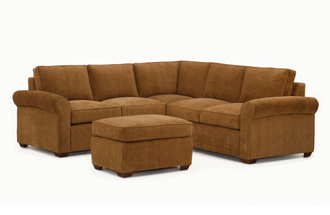 Lazar - Avani Sectional with Ottoman - 135910L, 135918R, 135948