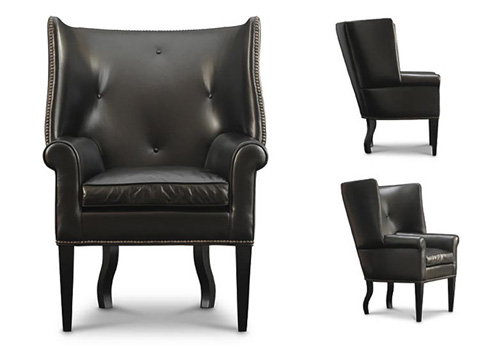 Leathercraft - Jude Wing Chair - 1221-17