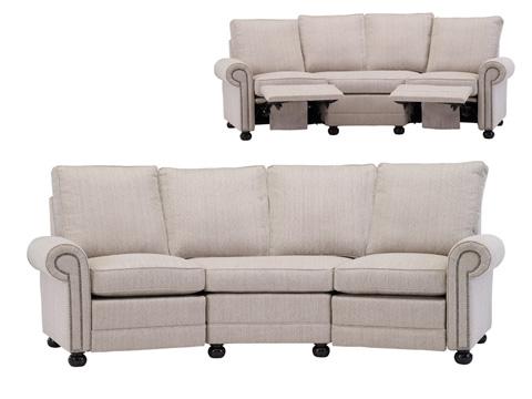 Austin angled reclining sofa 2520 rec2ang leathercraft for Sofa 3 cuerpos casanova austin