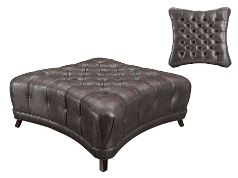 Leathercraft - Oliver Tufted Ottoman - 303-3