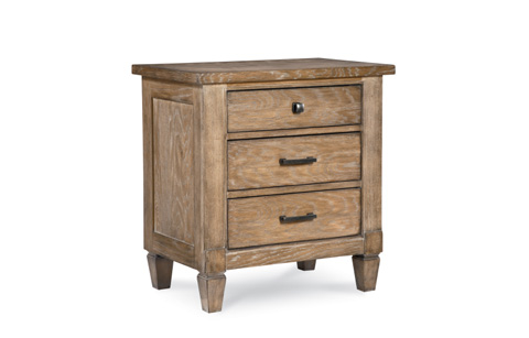 Image of Brownstone Village Three Drawer Patina Nightstand
