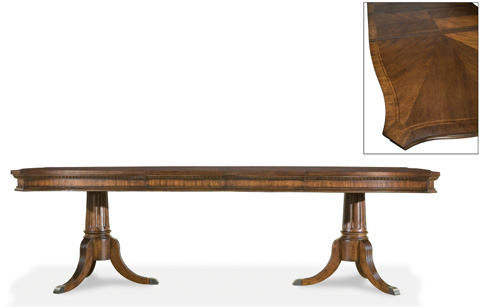 Image of American Traditions Rectangular Pedestal Table