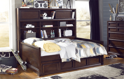 Legacy Classic Furniture - Full Bookcase Daybed with Underbed Storage - 2970-5604SK