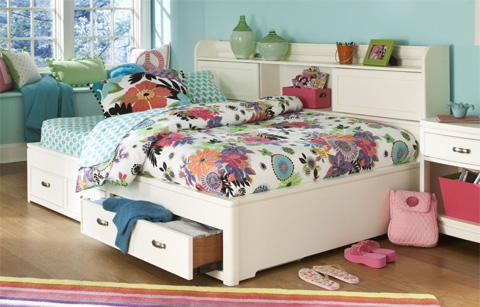 Image of Full Bookcase Lounge Bed
