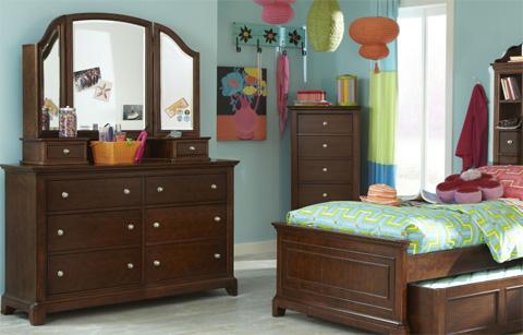 Image of Dresser with Vanity Mirror