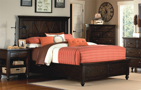 Legacy Classic Furniture - Thatcher California King Storage Bed - 3700-4107SK