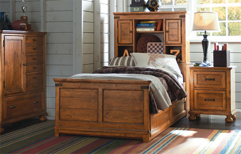 Image of Twin Bookcase Bed