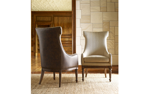 Image of Upholstered Hostess Chair