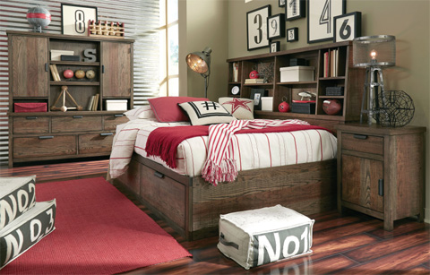 Image of Twin Bookcase Lounge Bed