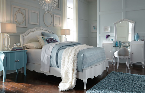 Image of Door Nightstand in Powder Blue