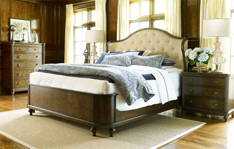Legacy Classic Furniture - California King Upholstered Shelter Bed - 5200-4207K