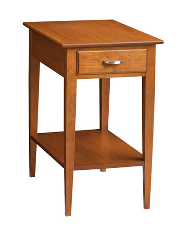 Image of Rectangular End Table with Shelf