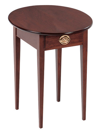 Image of Oval End Table