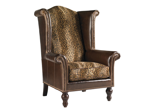 Lexington Home Brands - Kings Row Leather Wing Chair - LL7760-11AA