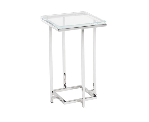 Image of Stanwyck Glass Top Accent Table