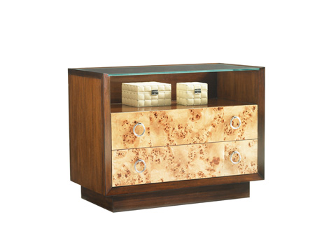 Image of Bergman Glass Top Nightstand