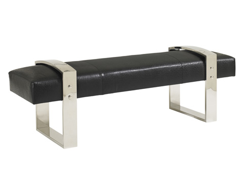 Image of Ascension Leather Metal Bench
