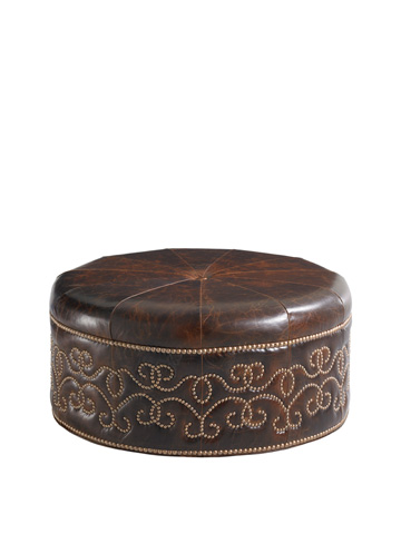 Image of Giardini Leather Ottoman