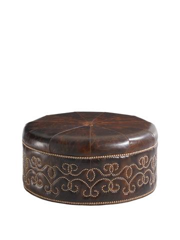 Image of Giardini Leather Ottoman
