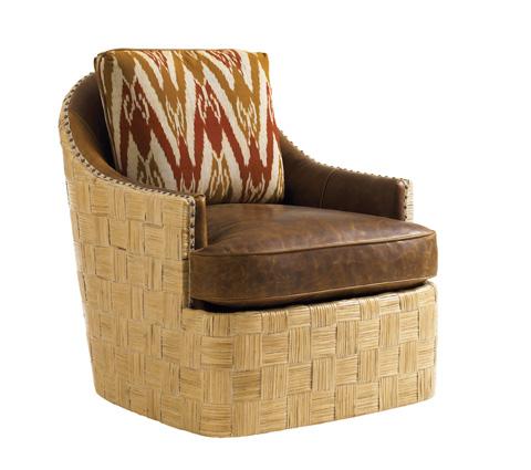 Tommy Bahama - Byron Bay Leather Swivel Chair - LL1671-11SW