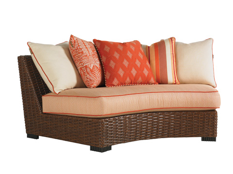 Image of Armless Curved Sofa