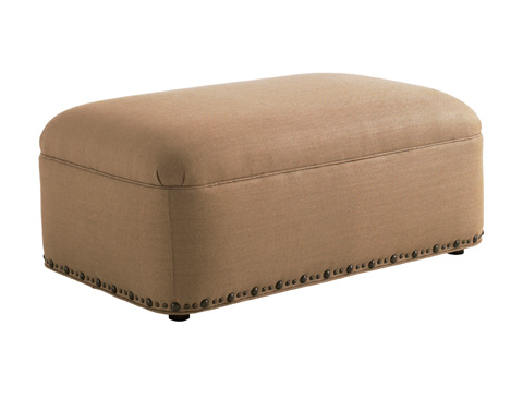 Image of Thorpe Leather Cocktail Ottoman