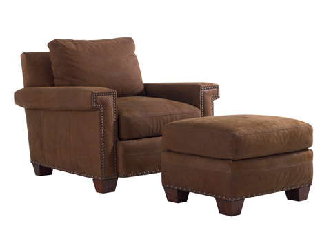 Image of Torres Leather Ottoman