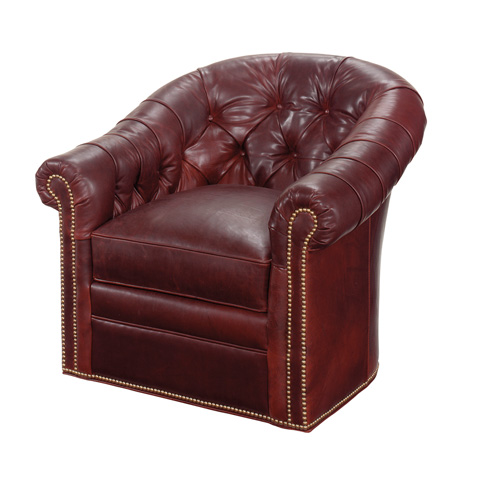 Image of Robinson Leather Swivel Chair