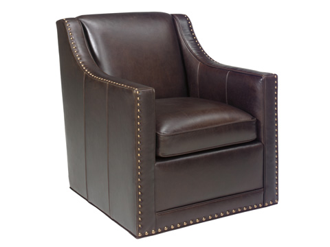 Lexington Home Brands - Barrier Leather Swivel Chair - LL7620-11SW