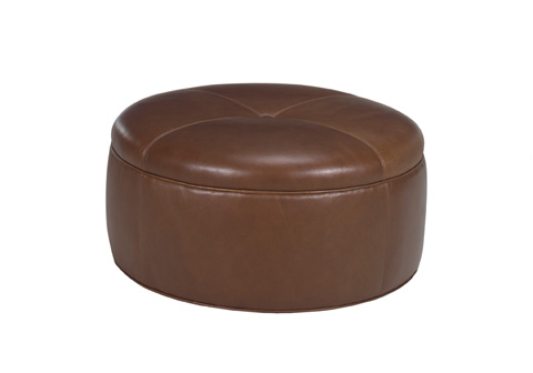Lexington Home Brands - Reid Leather Ottoman - LL7847-44