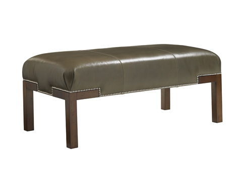 Image of Norfolk Leather Cocktail Ottoman