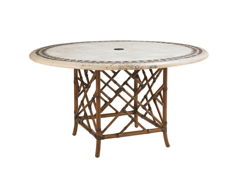Image of Outdoor Dining Table with Stone Top