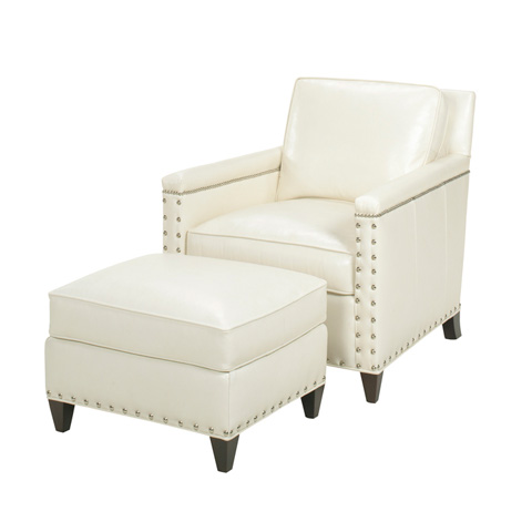 Lexington Home Brands - Chase Leather Ottoman - LL7725-44
