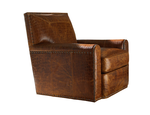 Image of Stirling Park Leather Swivel Chair