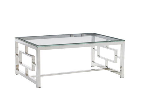 Image of Russell Glass Top Cocktail Table