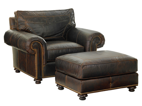 Tommy Bahama - Riversdale Leather Ottoman - LL7998-44