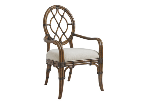Image of Cedar Key Oval Back Arm Chair