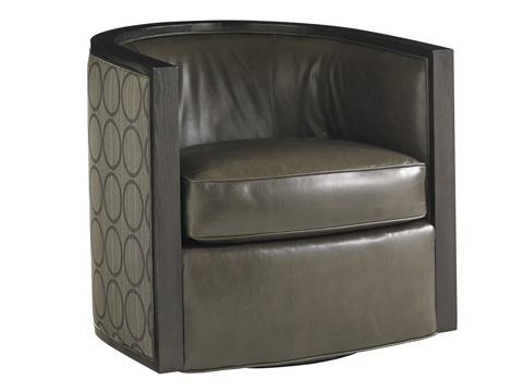 Lexington Home Brands - Palermo Leather Swivel Chair - LL7667-11SW