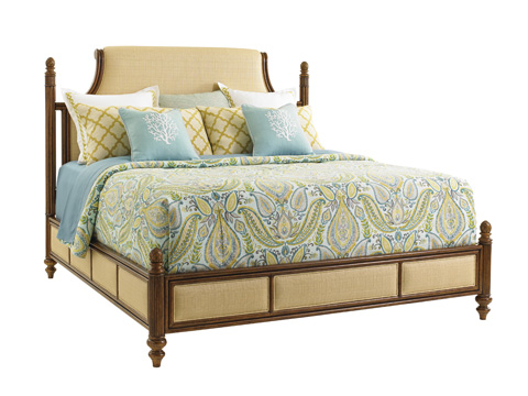 Image of Orchid Bay King Upholstered Panel Bed