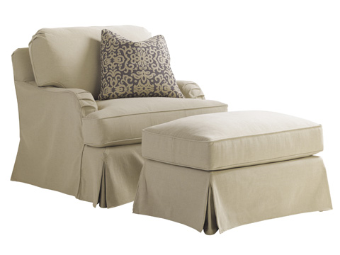 Lexington Home Brands - Stowe Swivel Slipcover Chair in Khaki - 7476-11SWKH